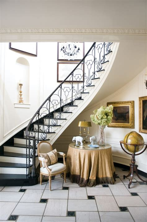 elegant foyer decor ideas winding curved stair case elegant deocr marble floor foyer
