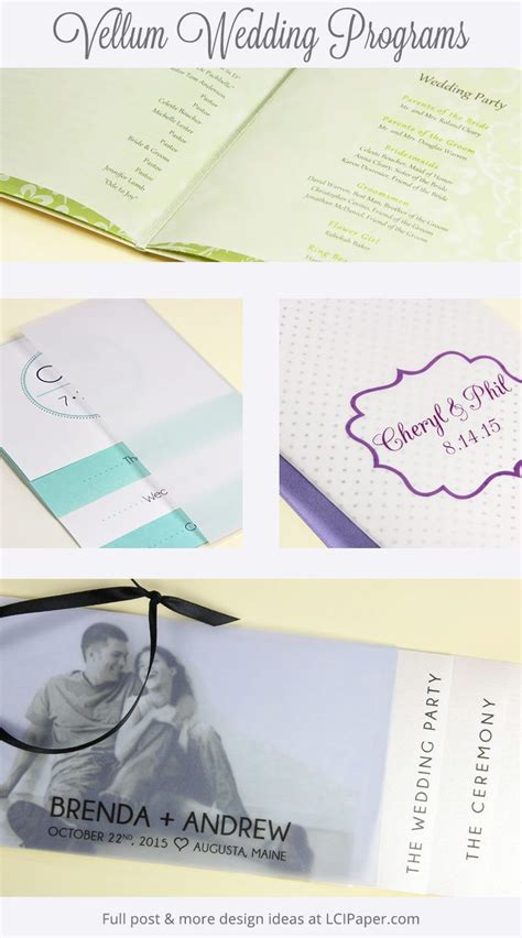 printable translucent vellum paper diy vellum wedding program ideas trending translucent