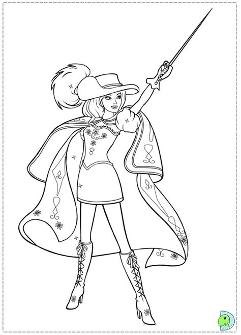 barbie musketeers coloring pages barbie 3 musketeers coloring pages az coloring pages