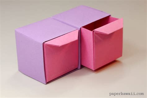 How To Make Paper Drawers - origami pull out drawers paper kawaii