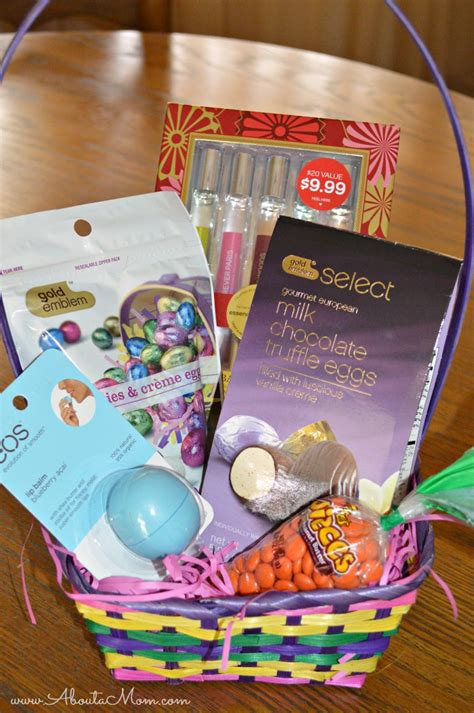 diy easter basket goodies from cvs giveaway about a mom