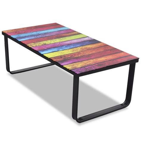 Rainbow Tables by Vidaxl Co Uk Glass Coffee Table With Rainbow Printing