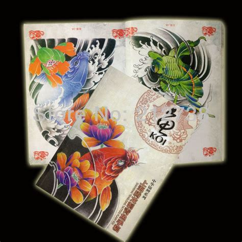 sketchbook koi free shipping a4 colorful koi fish sketch book 78