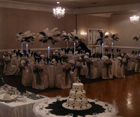 black and white wedding centerpieces source