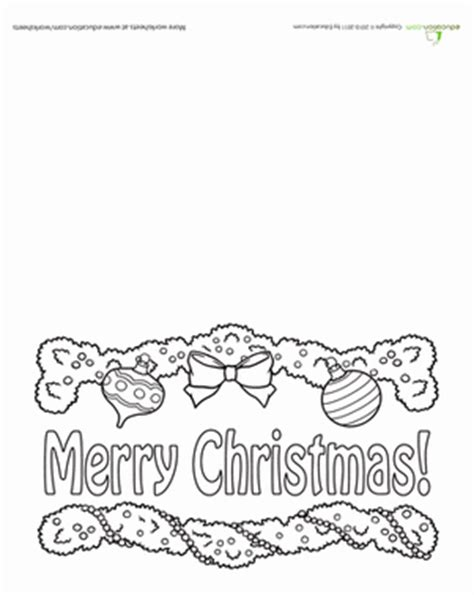 printable christmas card worksheets merry christmas card worksheet education com