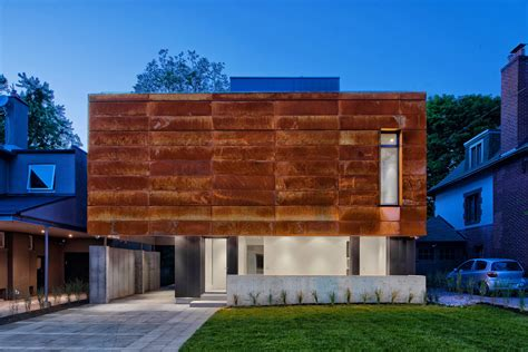 in style home decor a house in toronto wrapped in corten steel design milk