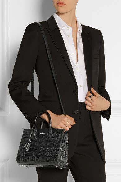 K Croco Mini 22cm Sm24 laurent sac de jour nano croc effect leather shoulder bag net a porter