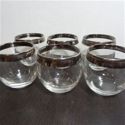Silver Rimmed Bar Glasses Best Silver Glass Products On Wanelo