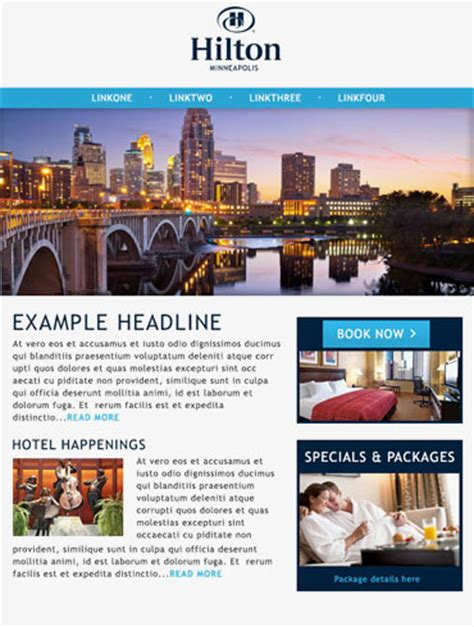 hotel newsletter templates hotel email responsive caigns