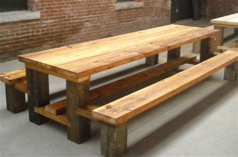 wood picnic table restaurant picnic table reclaimed wood hemlock copy