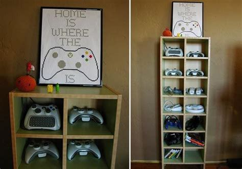 game storage ideas neat and tidy video game controller storage