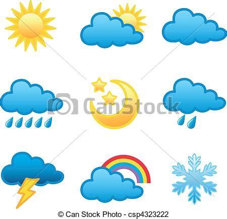 format graficzny eps ilustracje wektorowe pogoda ikony pogoda prognoza