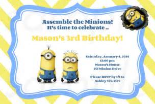 Free Minion Invitation Template by 40th Birthday Ideas Minion Birthday Invitations Templates