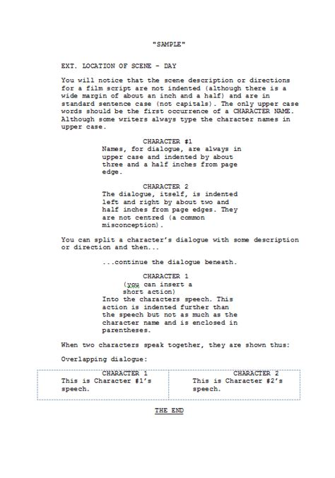 screenplay format template screenplay exle format search engine at search