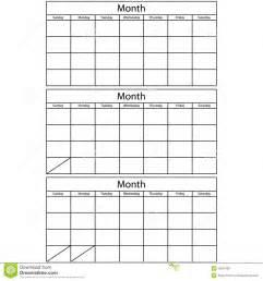 lege kalender 3 malplaatjes stock afbeelding afbeelding