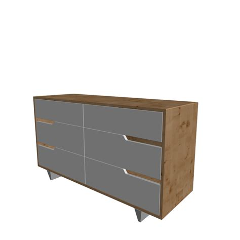 MANDAL 6 drawer dresser, birch, white   Design and