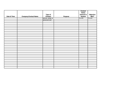 sales record template phone call tracker excel