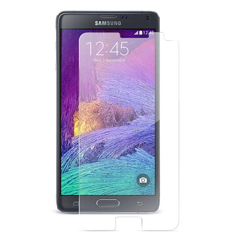 Tempered Glass Note 4 shatterguardz tempered glass screen protector galaxy note
