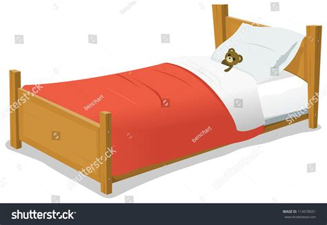 images of bed cartoon bed teddy bear illustration cartoon stock