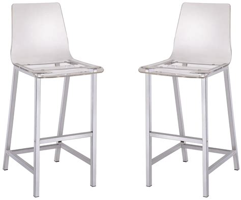 Clear Bar Stools Clear Bar Stool Set Of 2 From Coaster 100295 Coleman