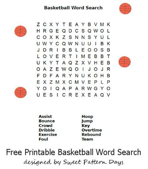 printable word search basketball basketball word search printable classroom ideas pinterest
