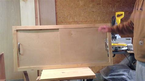 Wall Hung Kitchen Cabinets by How To Make A Sliding Cabinet Faceplate And Door Youtube