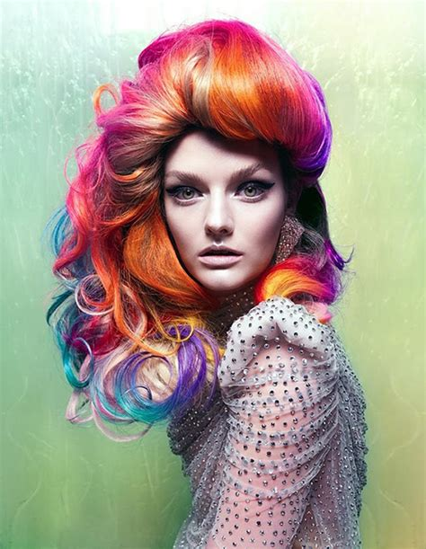 colour style 3 bright hair colour styles to try out in 2014 rainbow hair colour