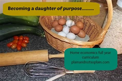 home economics lesson plans plain and not so plain