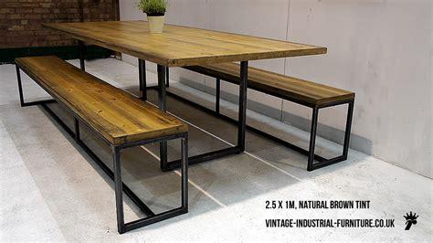 industrial loop leg dining table