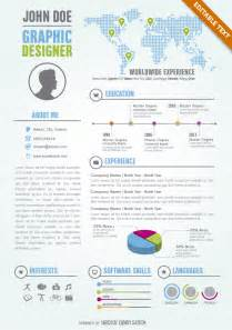 graphic designer editable resume cv template free vector