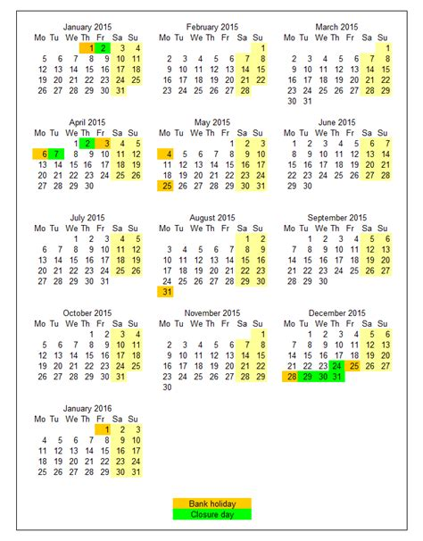 printable calendar 2015 uk with bank holidays uk bank holiday schedule forex trading
