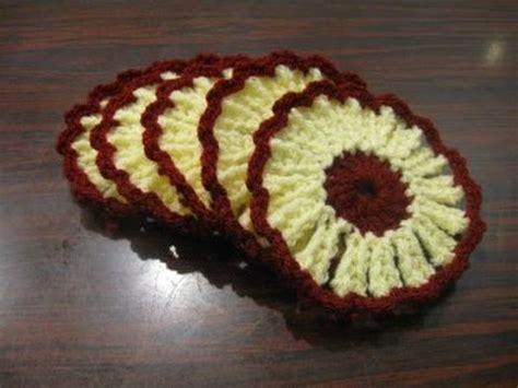 crocheted corkscrew tutorial youtube flower coaster crochet tutorial youtube