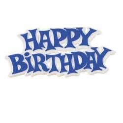 Happy birthday motto blue the little cake shop
