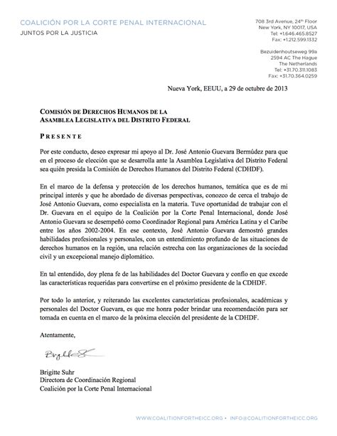 carta de apoyo candidatura cartas de apoyo para la candidatura a la presidencia de la comisi 243 n de derechos humanos