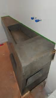 Vanity Trough Sink Mode Concrete Ultra Modern Concrete Floating Bathroom