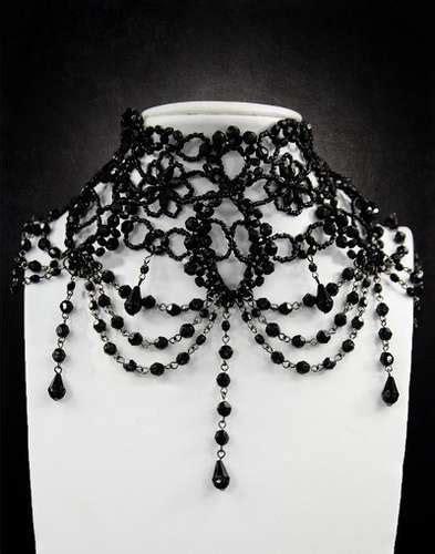 collier gothique victorien en perles synth 233 tiques