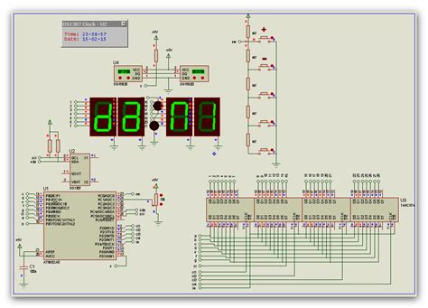 membuat simulasi jam digital dengan proteus running text digital clock jam digital atmega8