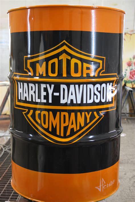 Garage Man Cave Designs bidon harley davidson