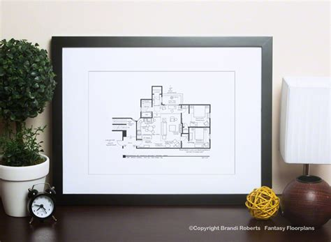 the sopranos house floor plan friends apartment layout buy a poster of monica and