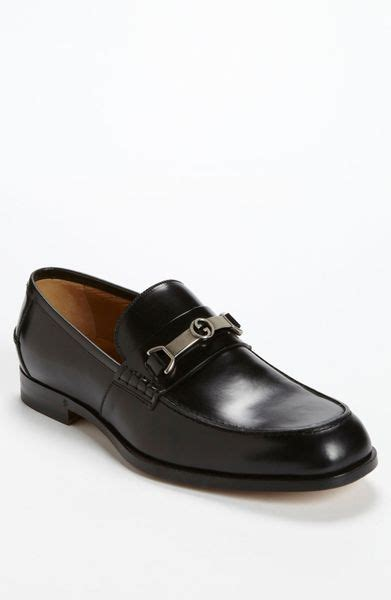 gucci taras bit loafer in black for lyst