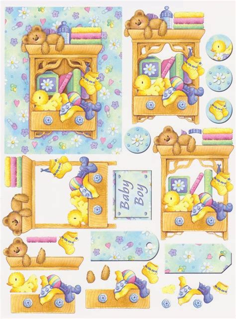 baby decoupage baby shower детское decoupage 3d cards