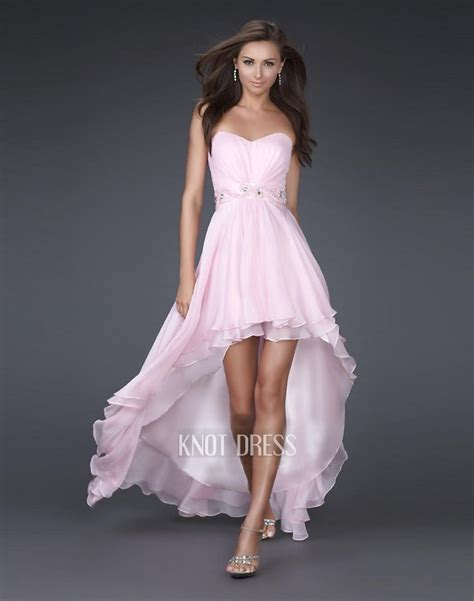 Light Pink Dresses by Light Pink High Low Prom Dresses Sang Maestro