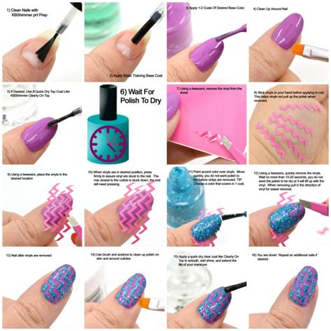 Nail Vinyls how to use kbshimmer nail vinyl decals kbshimmer
