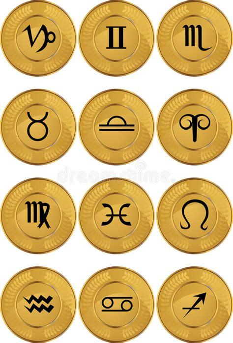 zodiac horoscope wheel stock illustration illustration