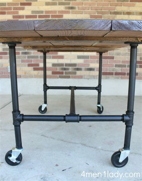 diy bar table pipe legs via 4 1 diy plumbing pipe table tutorial i m so doing this when we get a house