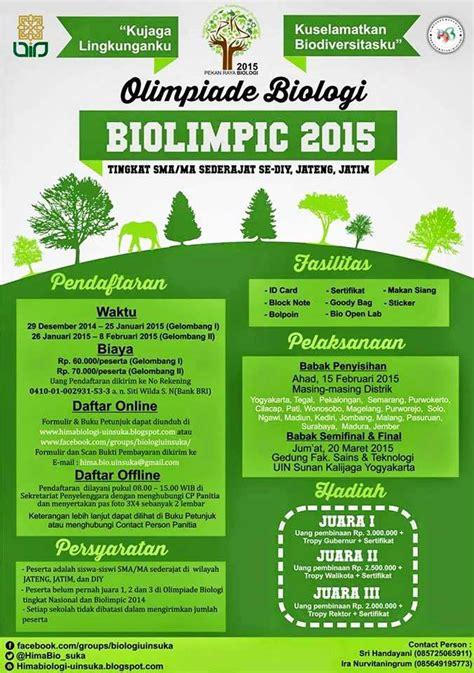Olimpiade Biologi biolimpic 2015 olimpiade biologi tingkat sma ma sederajat se diy jateng jatim