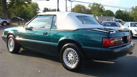 1990 25th anniversary mustang emerald green 1990 ford mustang 25th anniversary 7 up