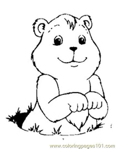 groundhog pages to print coloring pages