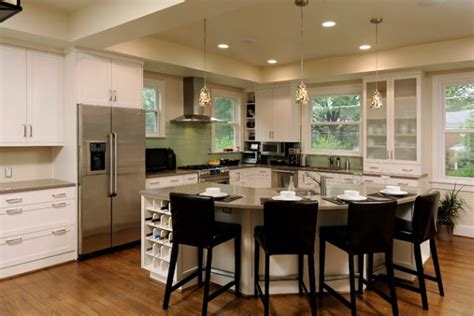 round kitchen islands 30 kitchen islands with tables a simple but very clever combo