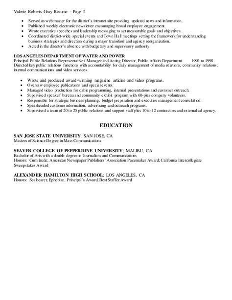 Resume D Gray by Valerie Gray Resume Of Qualifications
